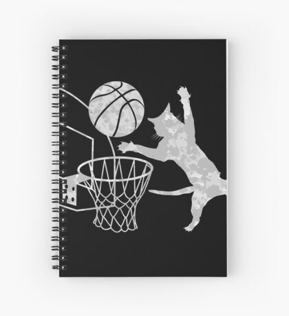 Slam Puss (Grey) Spiral Notebook