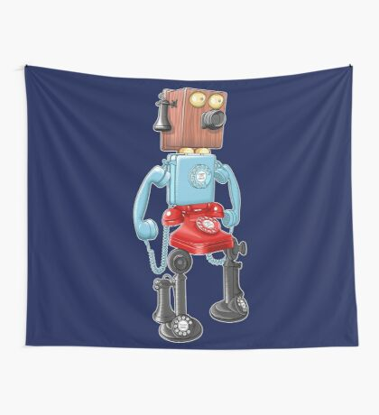 Smartphone Bot 8000 Wall Tapestry