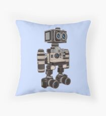 Camera Bot 6000 Throw Pillow