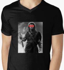 BRAVEHEART - freedom obey Men's V-Neck T-Shirt