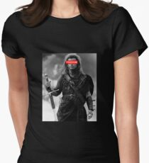 BRAVEHEART - freedom obey Women's Fitted T-Shirt