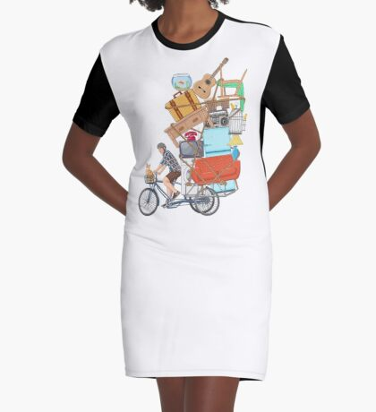 Life on the Move Graphic T-Shirt Dress
