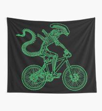 Alien Ride Wall Tapestry