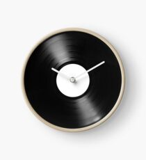Record Vinyl White Label Clock