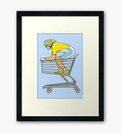 Retail Racer Framed Print