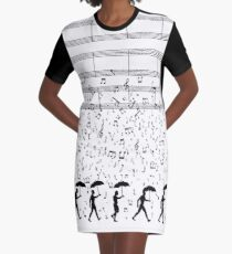 Singing in the Raaaain Graphic T-Shirt Dress