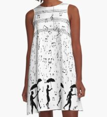 Singing in the Raaaain A-Line Dress