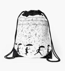 Singing in the Raaaain Drawstring Bag