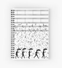 Singing in the Raaaain Spiral Notebook