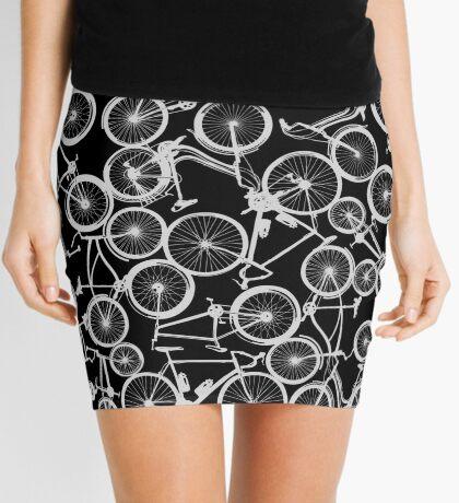 Pile of Grey Bicycles Mini Skirt