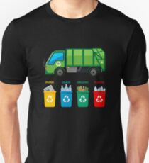 Camiseta ajustada Camisa Garbage Truck - Garbage Day Trucks Waste Management