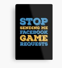 Facebook Requests Metal Print
