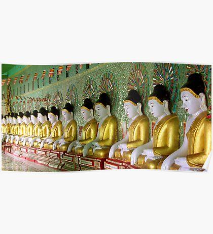 Temple, Sagaing Hill, overlooking Mandalay, Burma. Poster