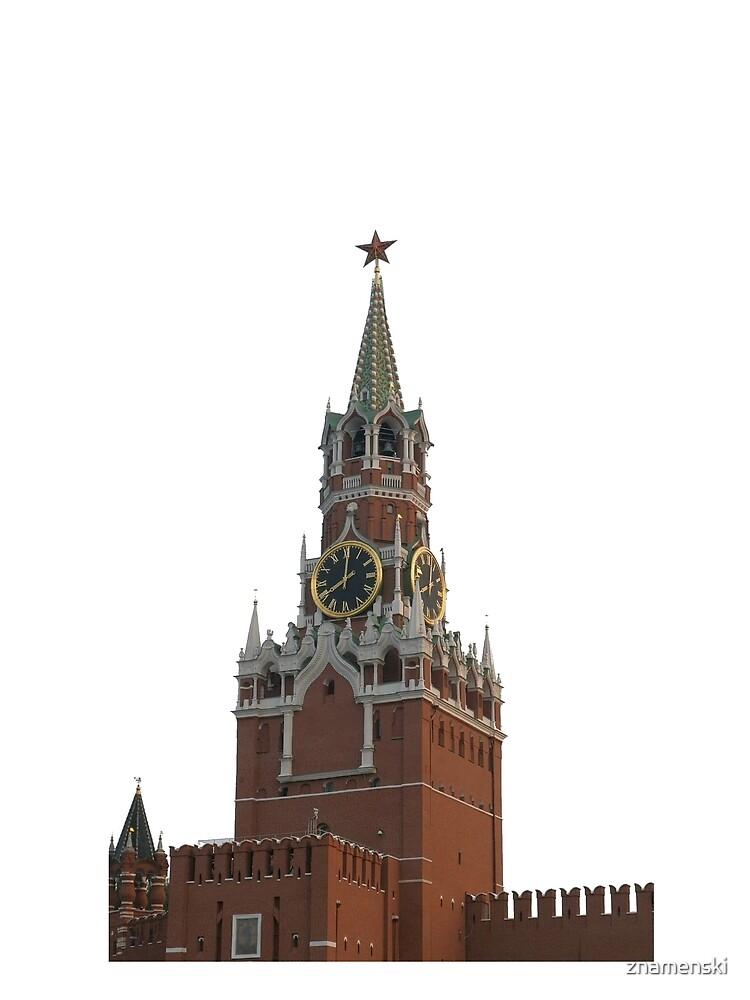 The famous Spasskaya tower of Moscow Kremlin, Russia by znamenski