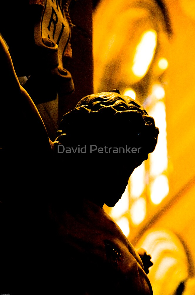 Silhouette of Jesus by David Petranker