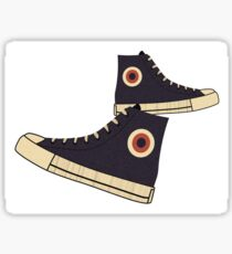 Vintage High-Top Tennis Shoes Sticker Sticker