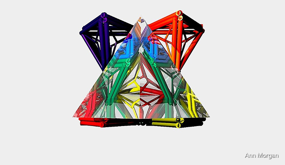3-D TRIANGLE IN A CRYSTAL PYRAMID by Ann Morgan