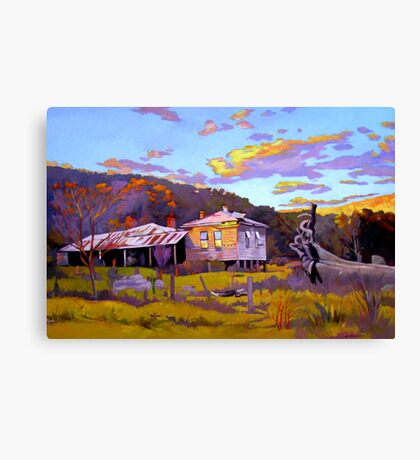 Deserted House at Payne's Crossing Canvas Print