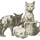 The Witch's Cats by Francisco de Goya by GlitterandDecay