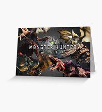 monster hunter world Greeting Card