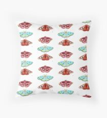 Moths Watercolour Painting Floor Pillow