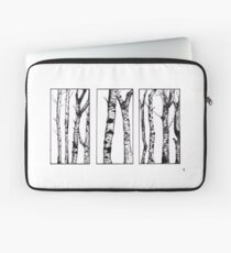 Silver Birch Ink Drawing Laptop Sleeve