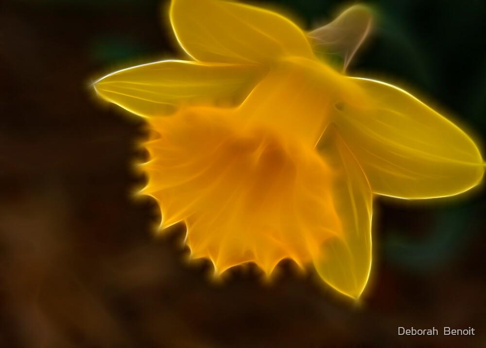 Daffodil In Fractalius by Deborah  Benoit