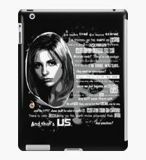 Buffy speech iPad Case/Skin