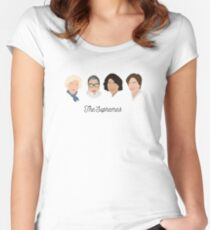 The Supremes (black text/white background) Women's Fitted Scoop T-Shirt