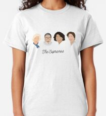 Camiseta clásica The Supremes (texto negro / fondo blanco)