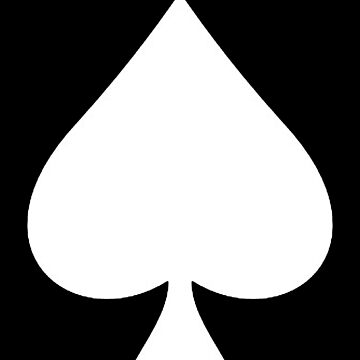 ACE, Ace of Spades, WHITE, Music, Motorbike, Hells Angels, Gang, Gamble, Cards, White on Black by TOMSREDBUBBLE