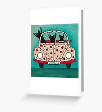 The Ladybugs Road Trip Greeting Card