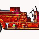 Old Seagrave Firetruck  by little1sandra