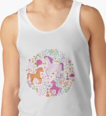 Unicorns in the Flower Garden Tank Top