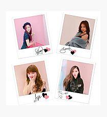 BLACKPINK - ot4 signature polaroids Photographic Print
