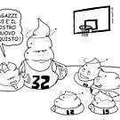 VITA E AVVENTURE DI PICCOLE MERDE - Basketball by CLAUDIO COSTA