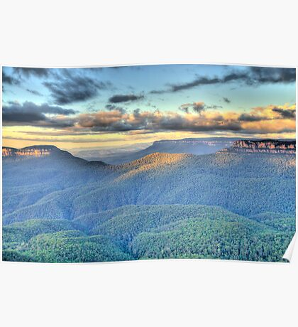 Morning Light - Blue Mountains World Heritage Area - The HDR Experience Poster