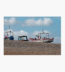 Cley-next-the-Sea boats on the shore Photographic Print