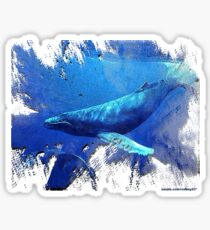 magnificent whales Sticker