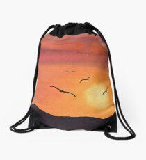 Sunset Flight Drawstring Bag