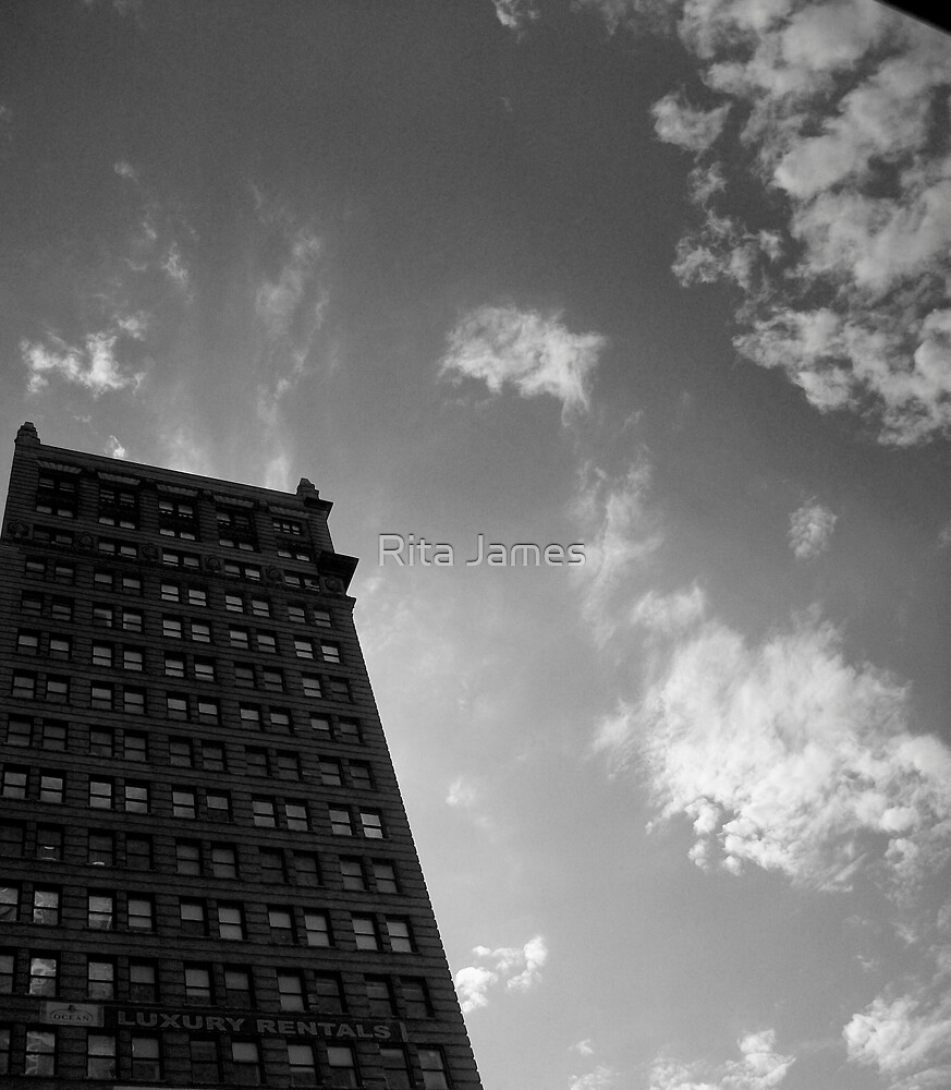 Black and White Building by Rita James