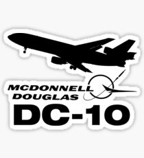 McDonnell Douglas DC-10 - Silhouette (Black) Sticker