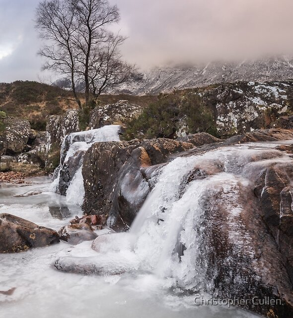 River Coupall in winter #1 by Christopher Cullen