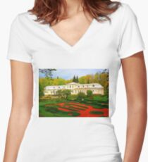 """""""Absolute Beauty"""", Photo / Digital Painting Women's Fitted V-Neck T-Shirt"""