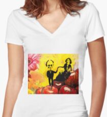 Deb and Bill Fitted V-Neck T-Shirt