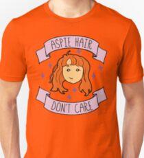 Aspie Hair Don't Care - ginger Unisex T-Shirt