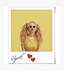 HyunA signature polaroid Photographic Print