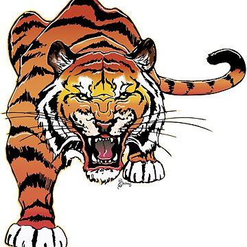 Tiger T-shirt by LOrnamentalArt