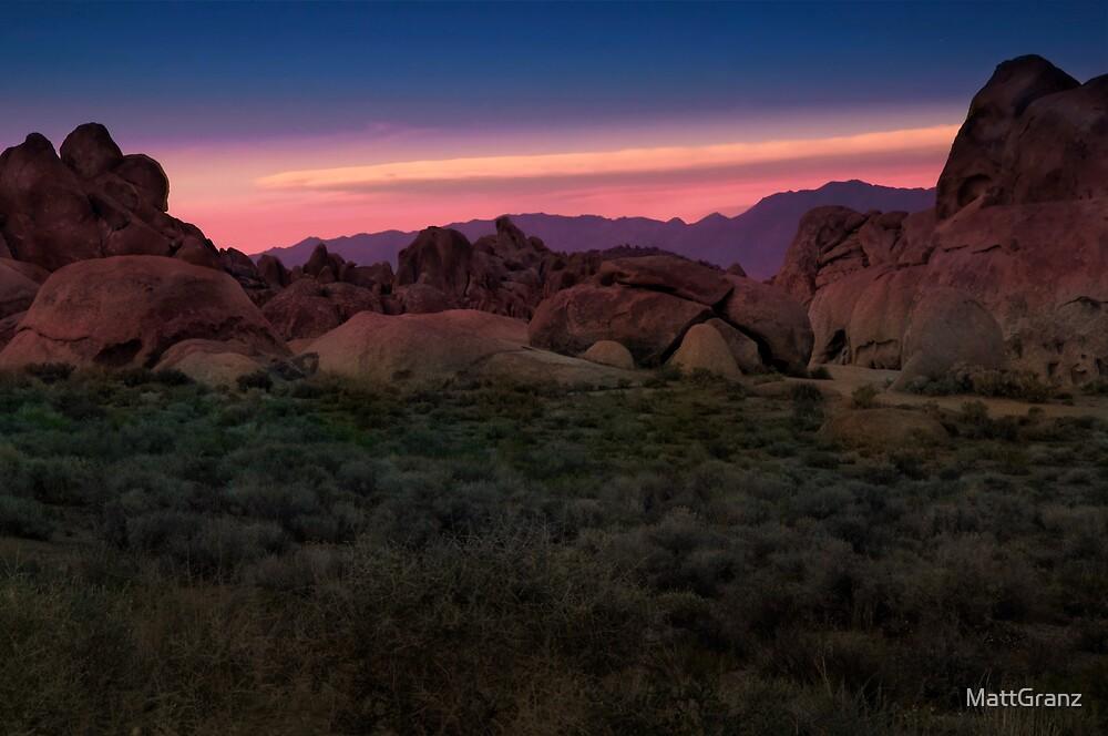 Alabama Hills Sunset by MattGranz