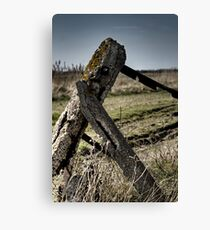 Dejected gatepost Canvas Print